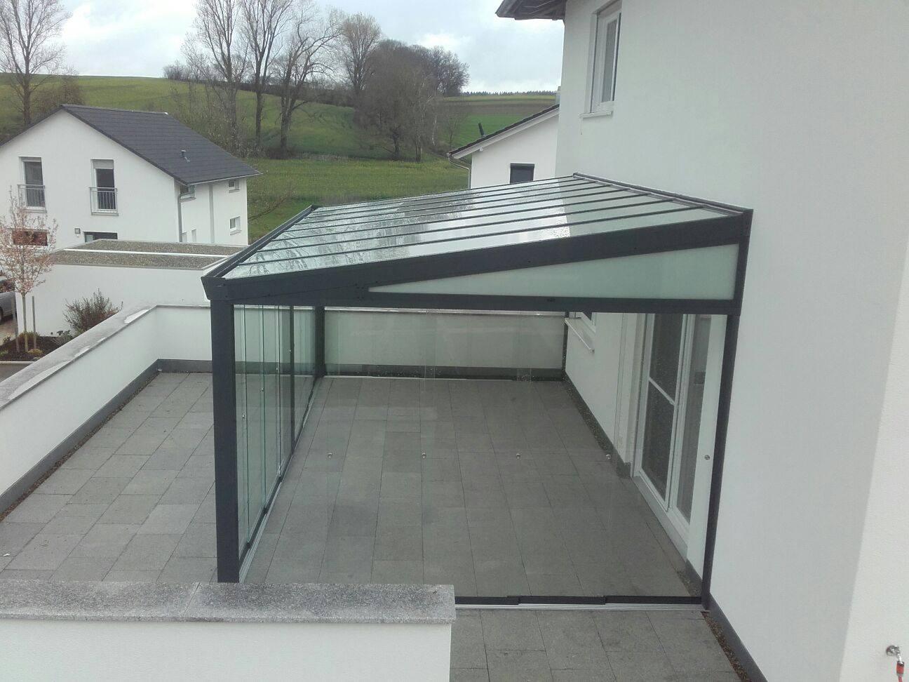 terrassenüberdachung mit sicherheitsglas