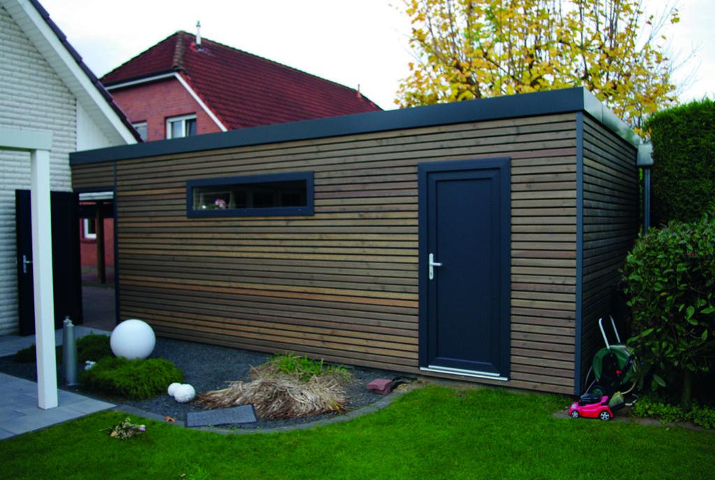 Holzrahmenbau als Anbau am Haus