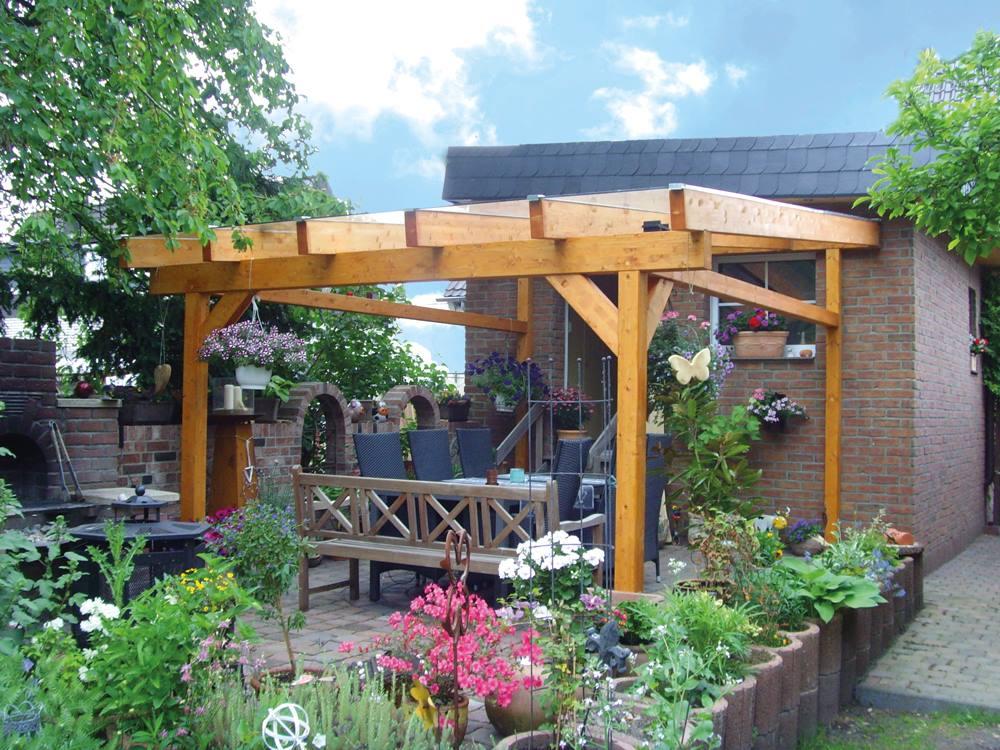 Natürlicher Garten Mit überdachter Sitzecke: Wohnzimmer Im Garten