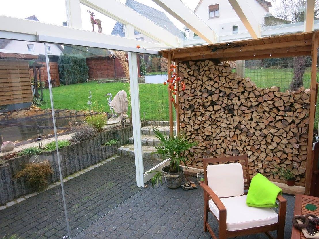 Holzunterstand für Brennholz