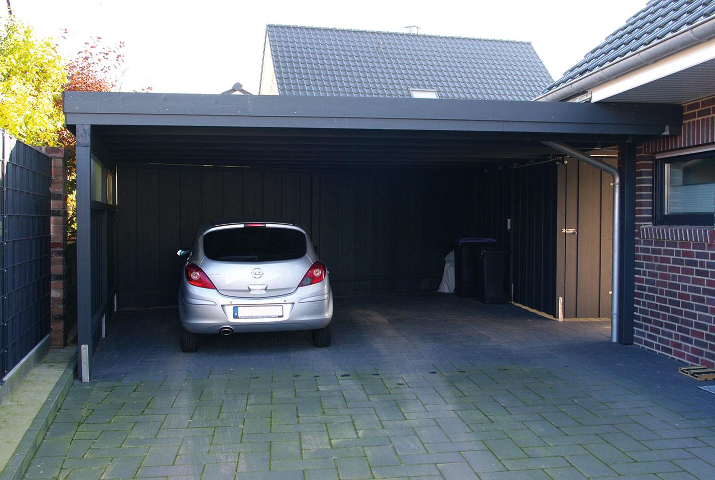 carport an garage anbauen das sollten sie beachten steda. Black Bedroom Furniture Sets. Home Design Ideas