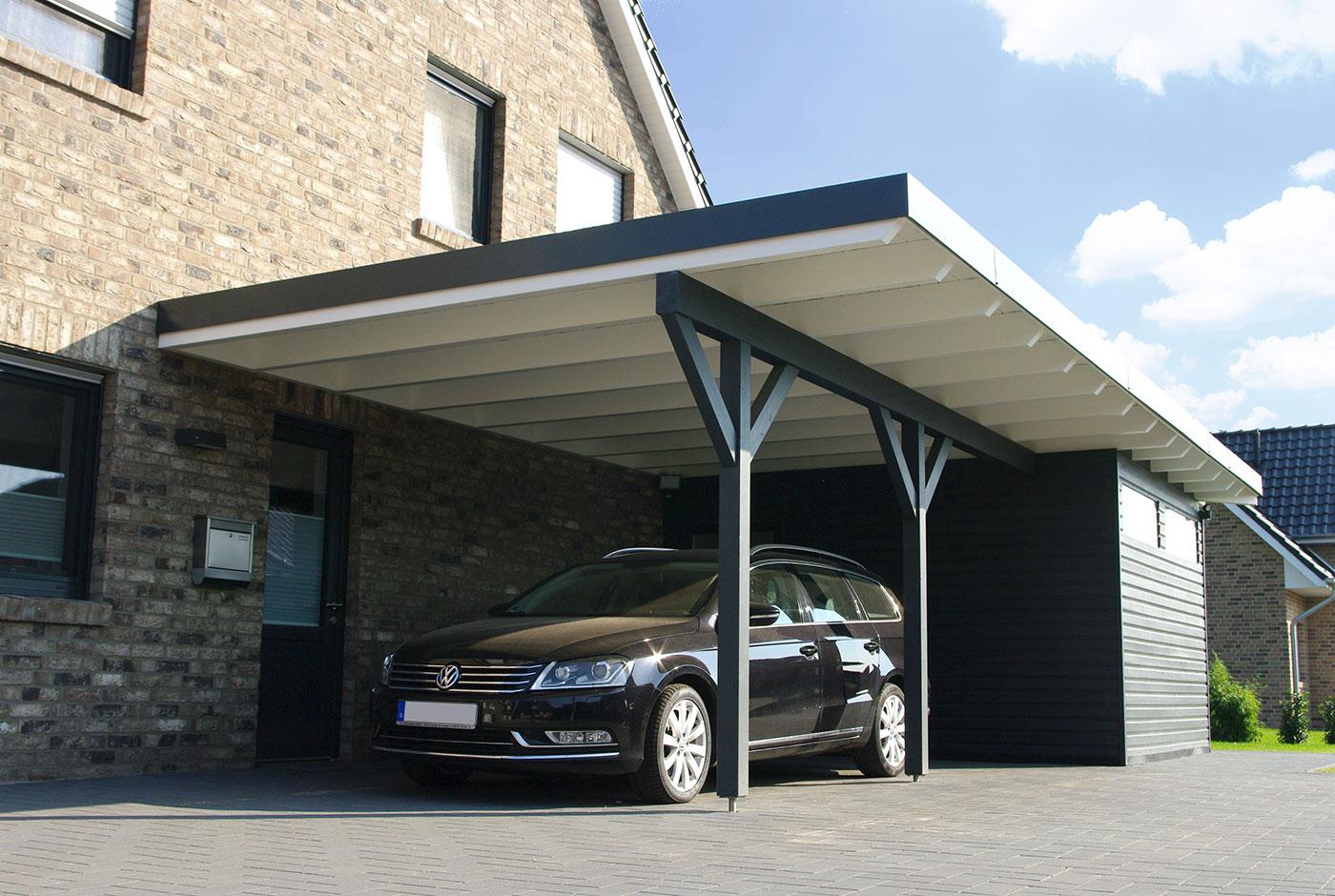 Elegant Elegant Amazing Carport Vor Und Nachteile With Garage Holz With Carport  Verkleidung Holz