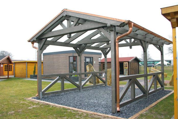 carport-fundament mit regenableitung