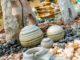Dekosteine und Zierkies als Nahaufnahme