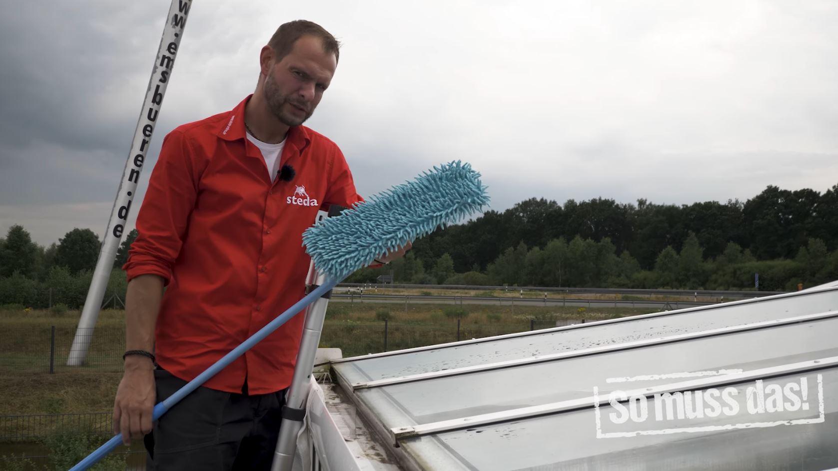 Mikrofaser Aufnehmer zum entfernen der Wasserflecken