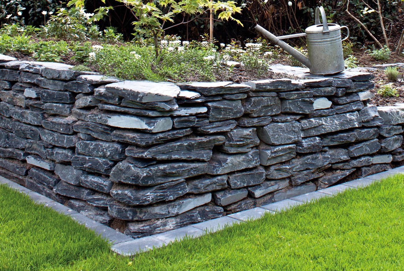 Gartengestaltung Mauersteine, schieferplatten und schiefersteine im garten - so muss das!, Design ideen