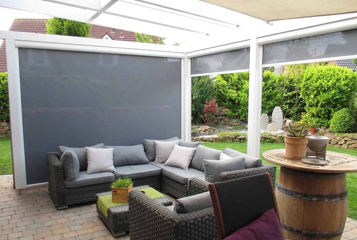 windschutz f r den garten so sch tzen sie den garten vor. Black Bedroom Furniture Sets. Home Design Ideas