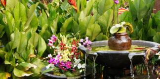Feng Shui Gartengestaltung mit Wasserelement