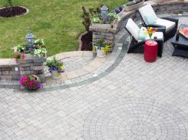 Terrassenform in rund