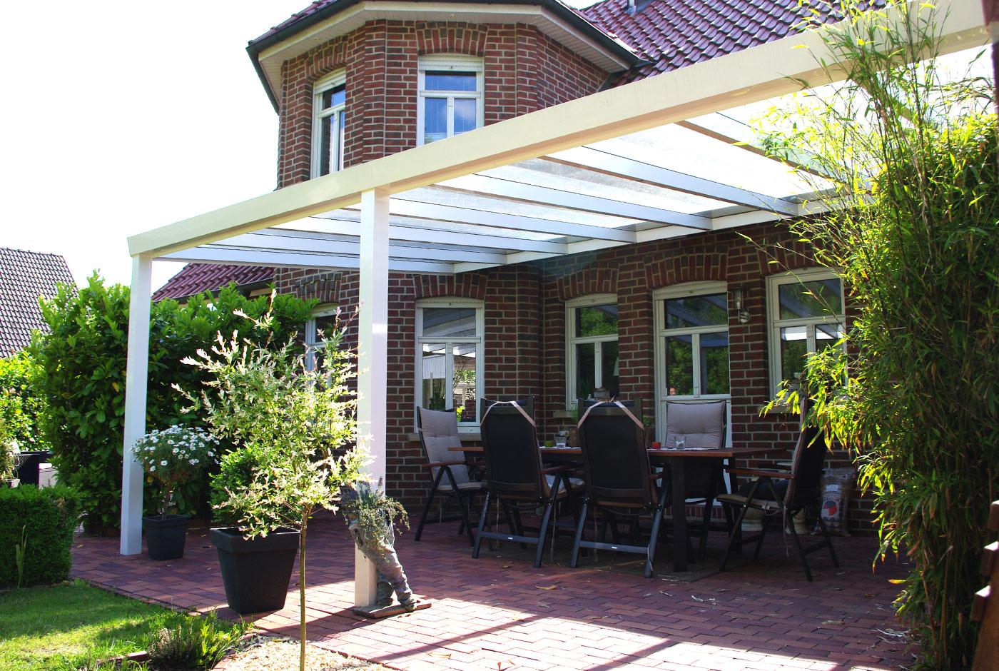 verbundsicherheitsglas (vsg) für glas-terrassenüberdachung, Moderne