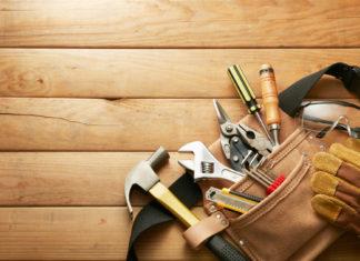 Mülltonnenbox selber bauen werkzeug