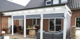 terrassendach mit seitenwand weiß