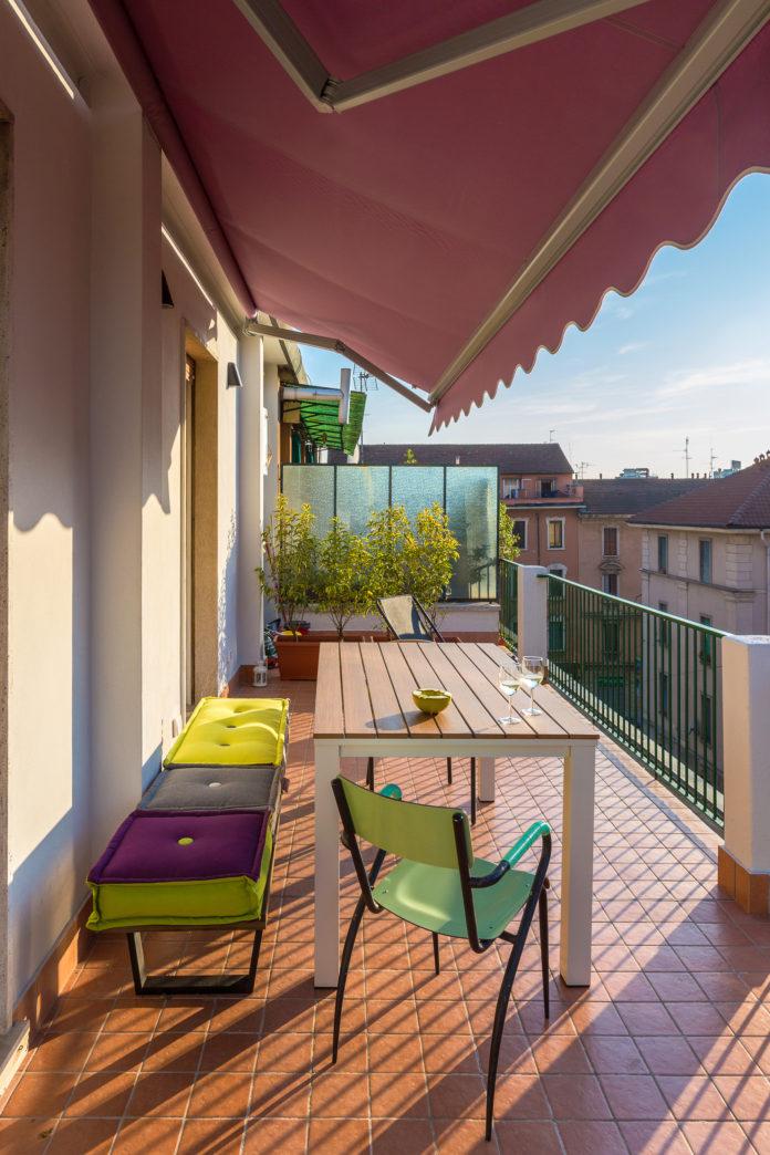Markise als Sichtschutz für den Balkon