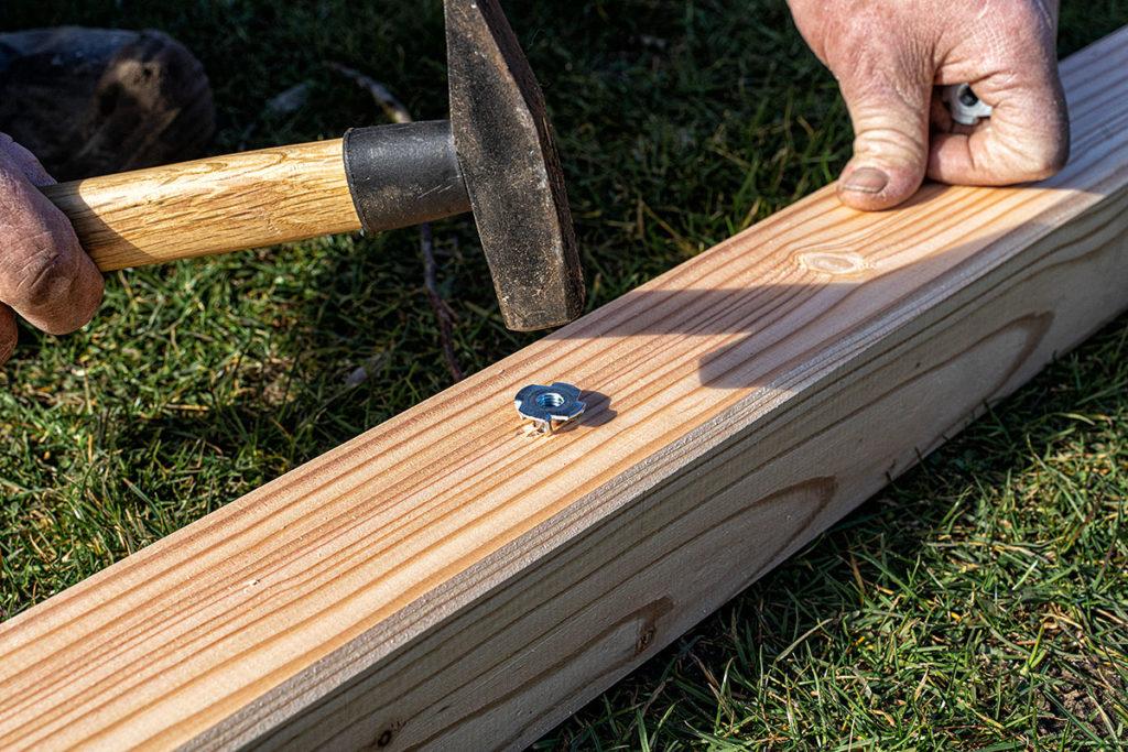 Werkzeug für Bau einer Terrassenüberdachung