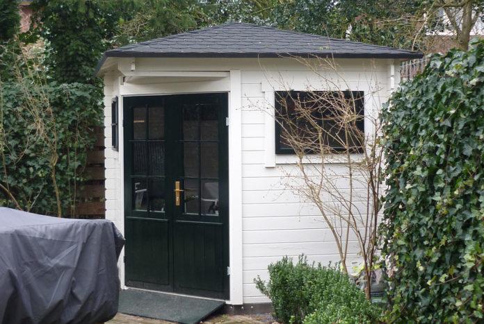 5-eck-gartenhaus weiß