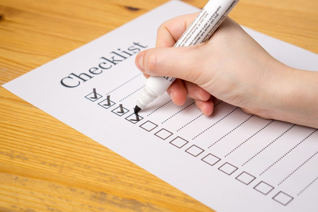 Checkliste-Hand-unf Stift