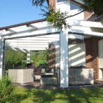 Traumterrasse - Terrassenüberdachung mit Glasschiebetüren