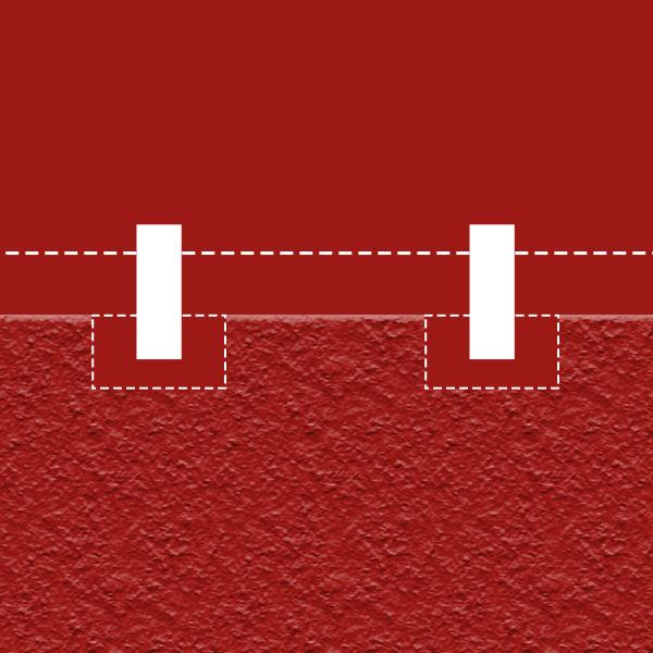 Einmessen und markieren des Zaunverlaufs