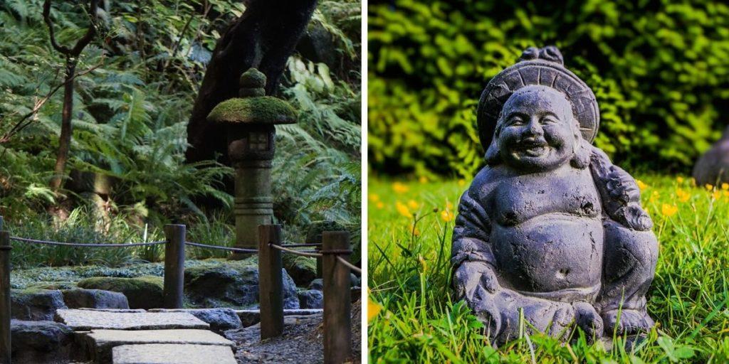 Zen-Gärten oder Gärten im japanischen Stil