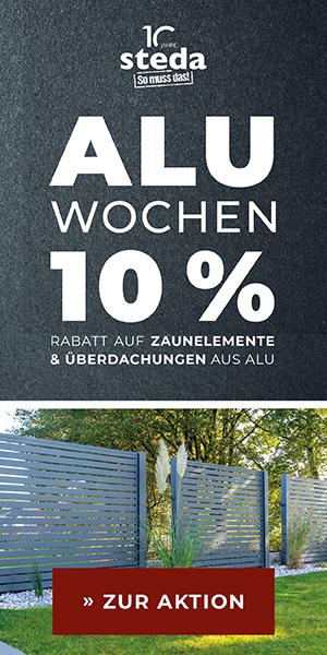 10% auf Zaunelemente und Überdachungen