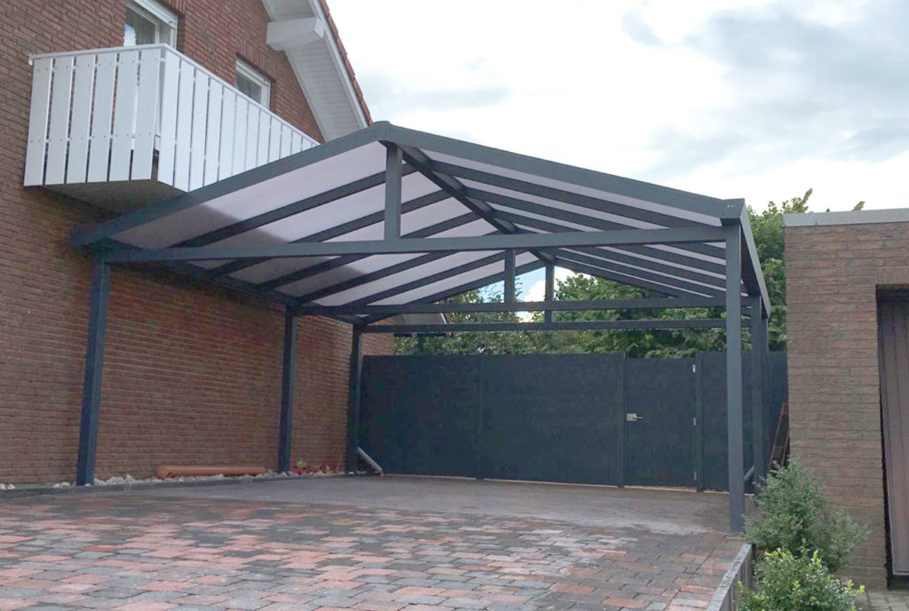Aluminium Carport Anthrazit