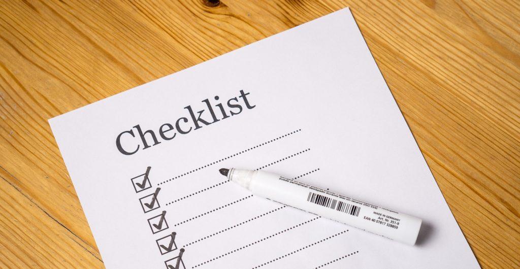 Checkliste Pfostenträger einbetonieren