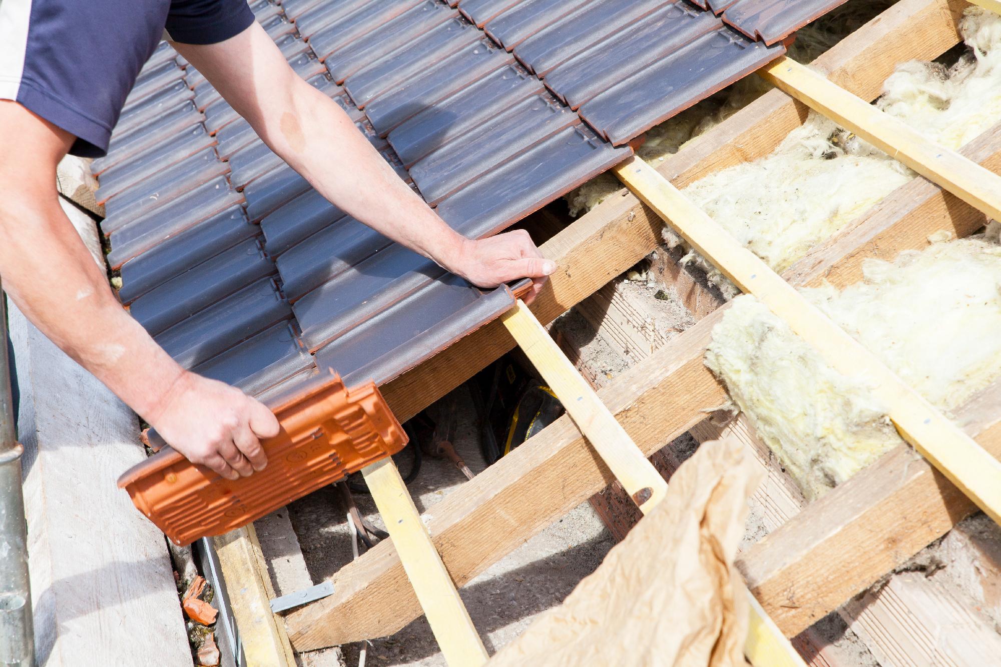 verlegen von dachpfannen auf dach