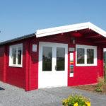 Gartenhaus in schwedenrot