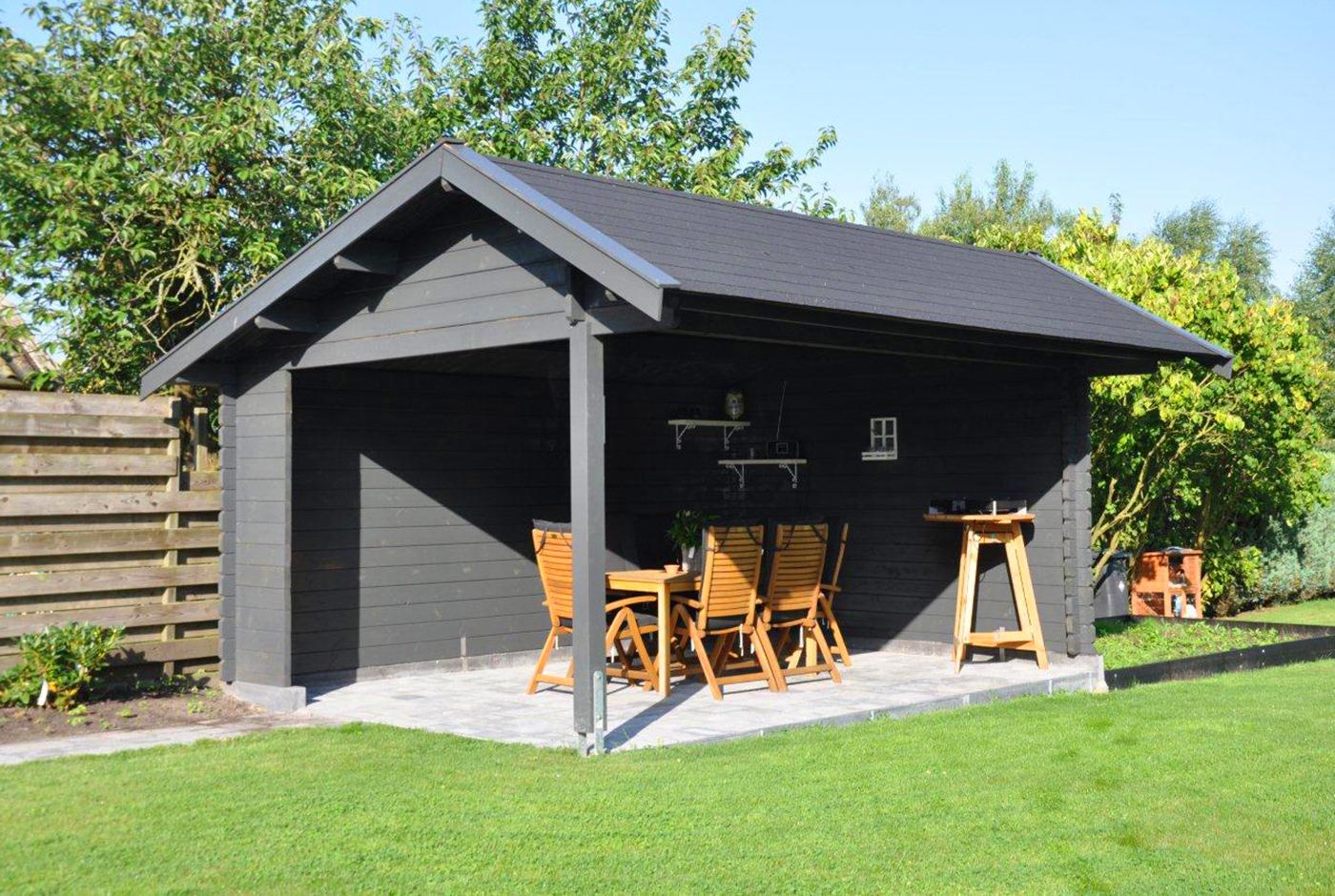 gartenhaus in grau – modern, zeitlos und elegant - so muss das!