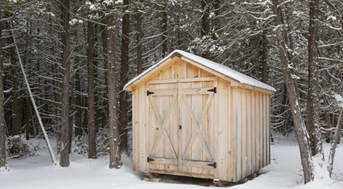 gartenhaus-mit-doppeltuer-im-schnee
