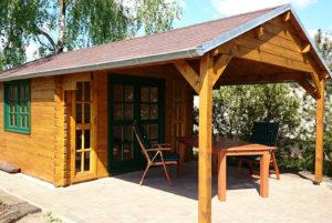 gartenhaus mit veranda modell florida