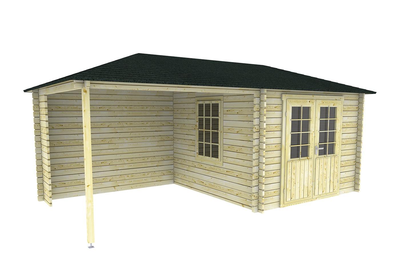 Gartenhaus mit carport