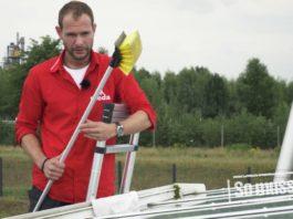 Pflege einer Terrassenüberdachung mit Sicherheitsglas