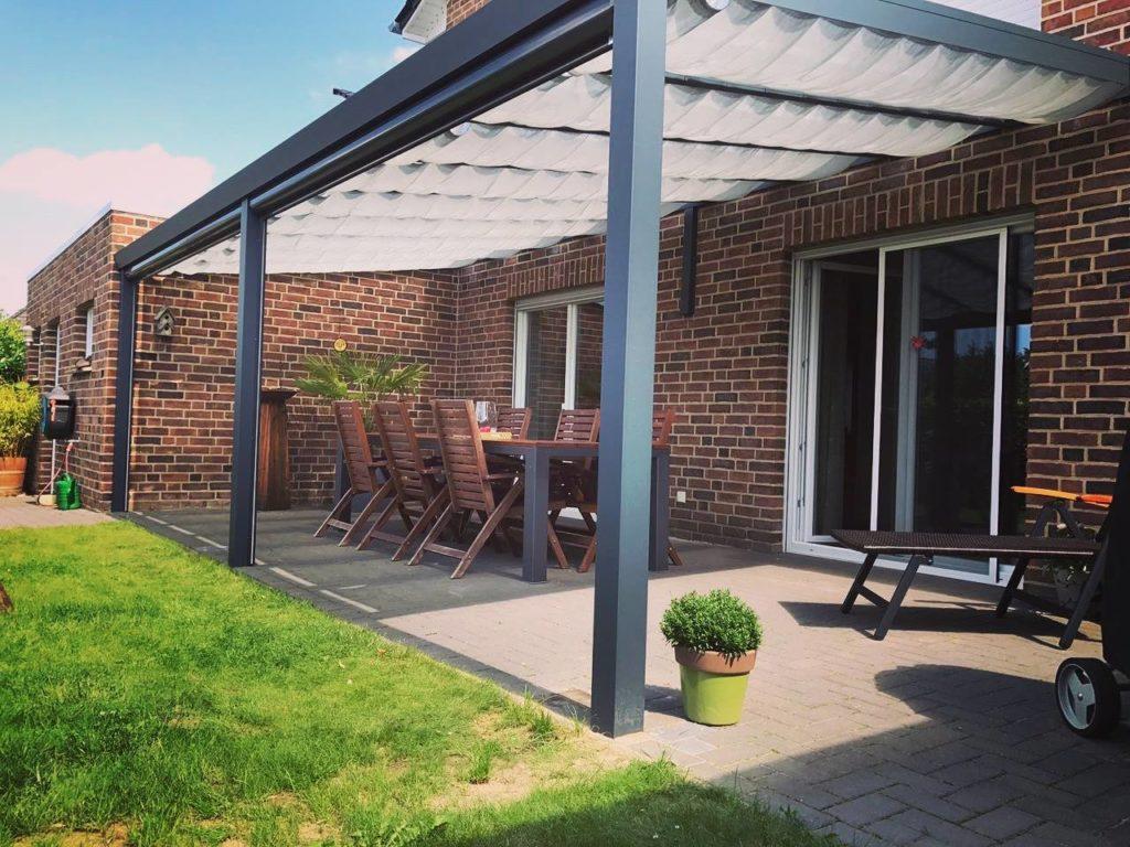 moderne terrasse aluminium