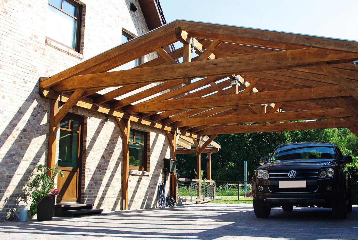 Carport Glas - Das Carport Satteldach aus Sicherheitsglas