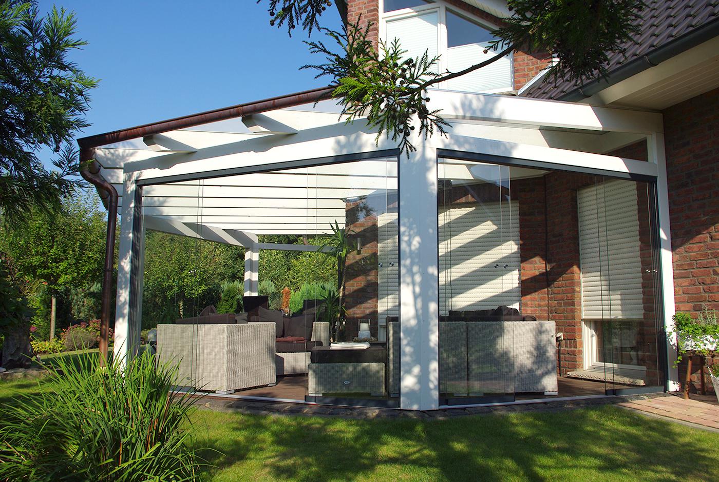 terrassen berdachung ber eck so muss das. Black Bedroom Furniture Sets. Home Design Ideas
